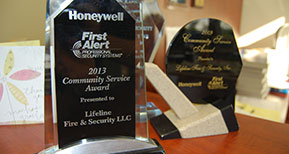 Honeywell service award